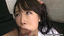 Cumming inside of the tiny Asian teen's pussy