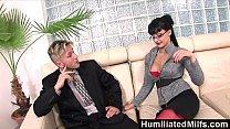 HumiliatedMilfs - Horny secretary loves a cock ... thumb