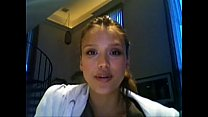 Jessica Alba Jerkoff Instruction Red Light Gree...