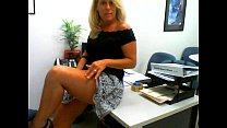Horny Milf Masturbates in Her Office