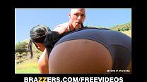 Natural Asian babe Jayden Lee rides her man's b... thumb