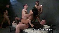 huge natural boobs babe gangbang fucked