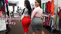 Diamond Kitty and Spicy J the shoping parte 1/2 porn videos