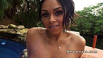 after hot tub ebony got anal fuck pov outdoor