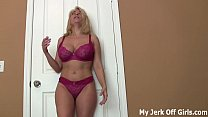 Stroke your cock for my big DD titties JOI