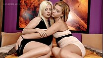 Hot lesbian sex scene in bed with two sexy babes porn videos