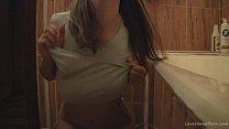 bathroom the in nude teasing klara playgirl
