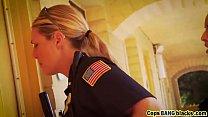 interracial threesome riding cops female tits Big