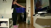 German Sister Caught Him Snif her Panty and Sed...
