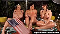 BBWs Angelina Castro Sam GG & Lexxxi Share Dirt...