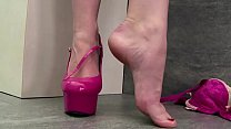 action some wants and toy with masturbates babe Foot