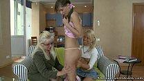 girls teen european seduces woman Mature