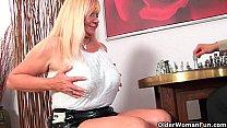 Slutty grandma Venus sucks cock and gets a mouth full of cum porn videos