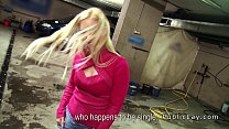Female boss wanking cock in public garage porn videos