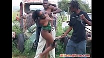 guys black horny two by abused gets babe african Enchained