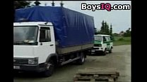 Police colleagues fuck in the truck - sex video - Download mp4 XXX porn videos