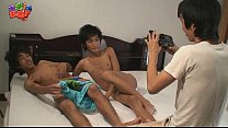 Asian Twinks In Threesome porn videos