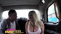 Female Fake Taxi Busty blonde wants big hard Br...