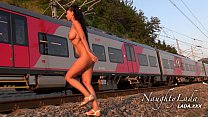 nude in public on the railway