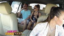 Female Fake Taxi Brunette cabbie fucked doggy s...