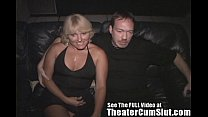 Milf Jackie Gangbanged in The Porno Theater