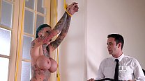Pierced Pussy Stuffing - Inked Submissive Doubl...