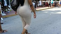 6 booty thong visible leggings See-through