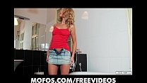Curly haired bombshell masturbates with her panties porn videos