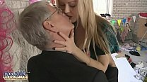 Old young kissing compilation