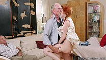 Pigtailed Redhead Teen Fucked by 75 Year Old thumb