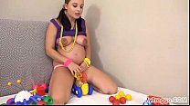 Pregnant Alyssa Fucks Herself with Children's T...
