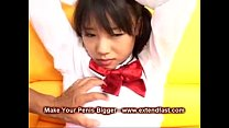 japanese asian school girl rough blowjob cum on face