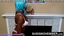MSNOVEMBER DRILLS HER TIGHT PUSSY WITH WHITE DI...
