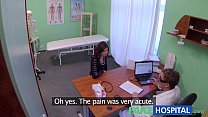 Fake Hospital Sexual treatment turns gorgeous busty patient moans of pain into p porn videos