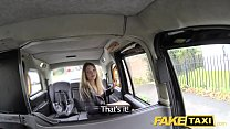 Fake Taxi footjob and big cumshot for cute shaved pussy blonde porn videos