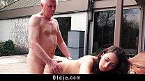 Naughty Grandpa Fucks My Teen Step-sister Licks...