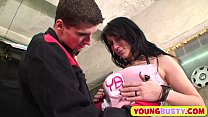 big titted hottie fucked by an auto mechanic