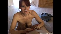 skinny mature amateur blows cock like a pro