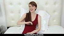 TeensDoPorn - Busty Red Head Abbey Rain's Porn ...