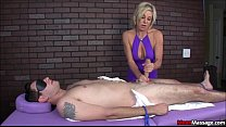 creampie nice a gets and fucks titty milf Blonde