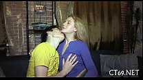 Teen playgirl pleases her guy