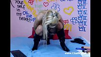 Blonde Stretches Her Asshole With Long And Huge...