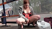 naughty milf isabels public masturbation and fl…