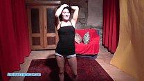 Petite brunette lapdances for horny friend thumbnail
