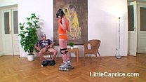Roller skating teen Little Caprice fucked 4 cre...