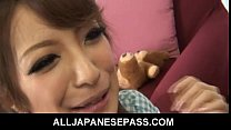 Dirty Japanase MILF gets a mouthful of hot cum thumbnail