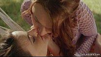 Lesbians Share A Secret Kiss