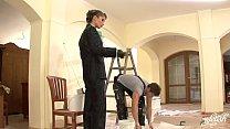 Bride Nessa Devil Checks Painting Progress porn videos