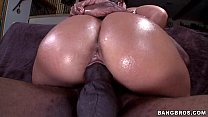 Oiled Up Babe gets BBC porn videos