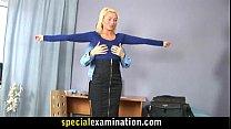 Hot blonde girl goes through medical exam